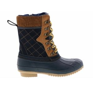 Khombu Thermalite Duck Boots Tan Suede NIB Size 9